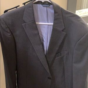 Tommy Hilfiger Charcoal gray pinstripe suit